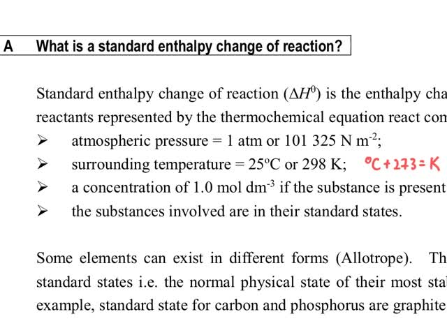 Standard Bedingungen