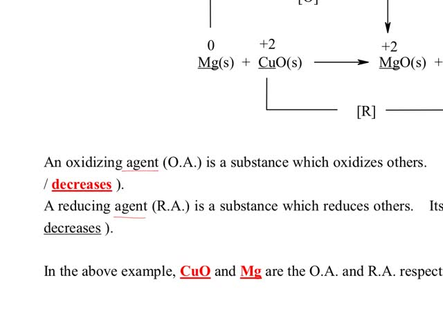 Chemistry Tutorial Ch30 2 Definitions Of Oxidizing Agents And