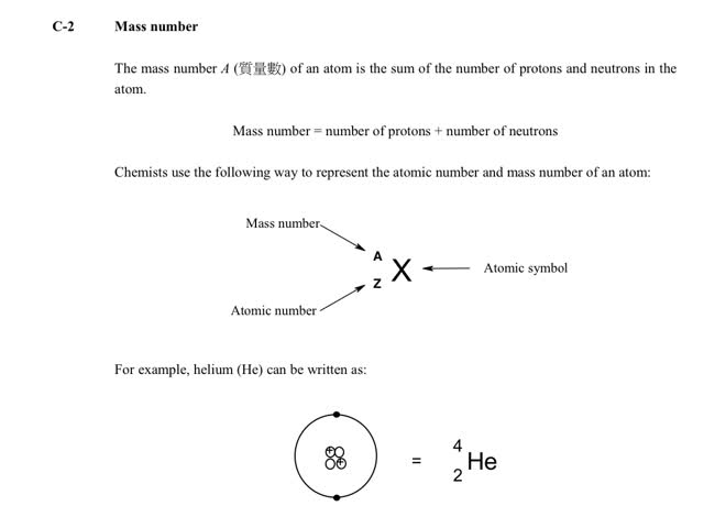 Chemistry Tutorial Ch5 4 Atomic And Mass Numbers