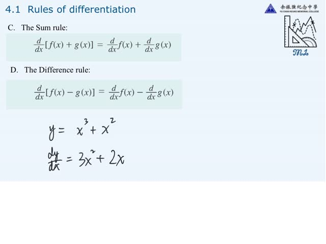 4S M1 - 4S M1 - 4 1A constant,power,sum,difference rules